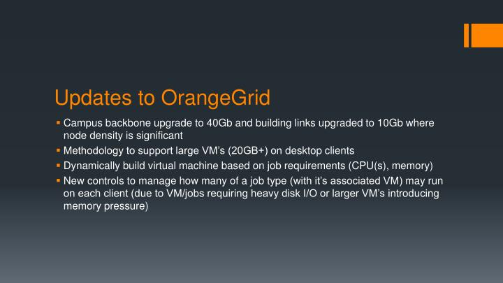 Updates to OrangeGrid