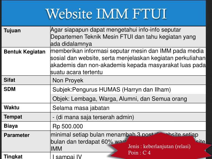 Website IMM FTUI