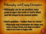philosophy and empty deception2