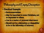 philosophy and empty deception4
