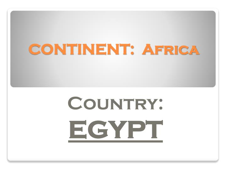 continent africa n.