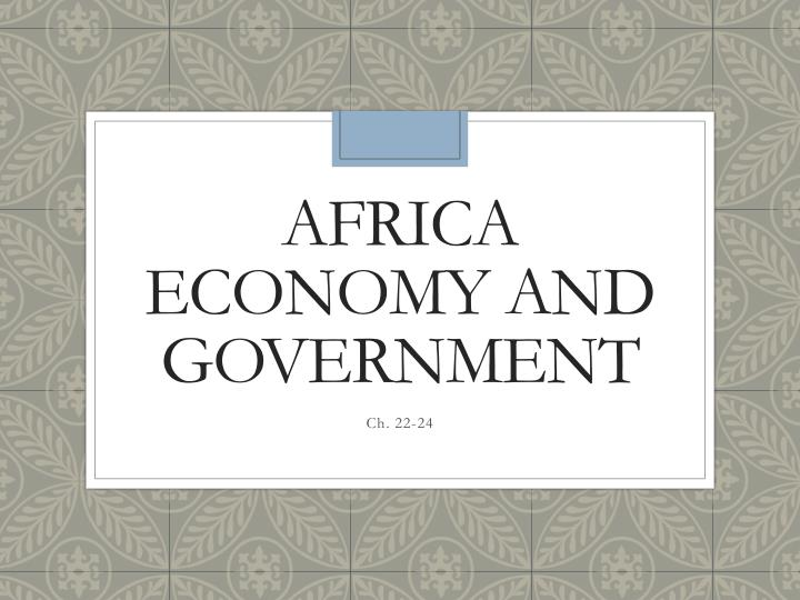 africa economy and government n.