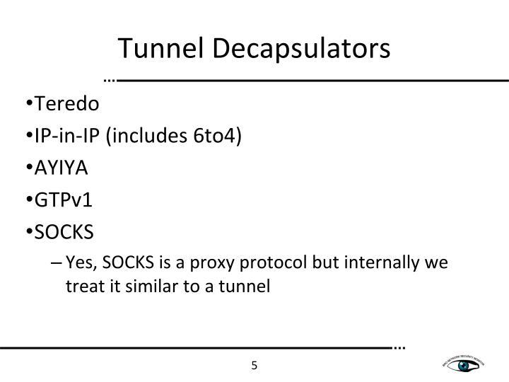 Tunnel Decapsulators