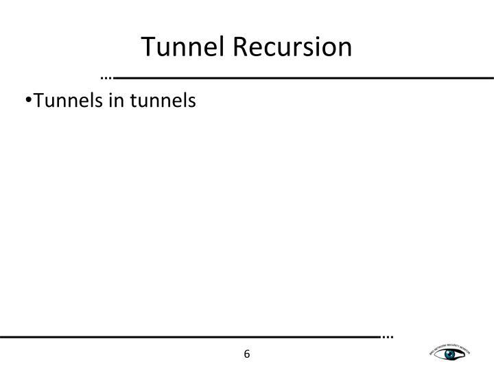 Tunnel Recursion