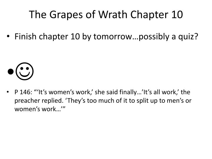The Grapes of Wrath Chapter 10