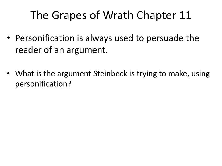 The Grapes of Wrath Chapter 11