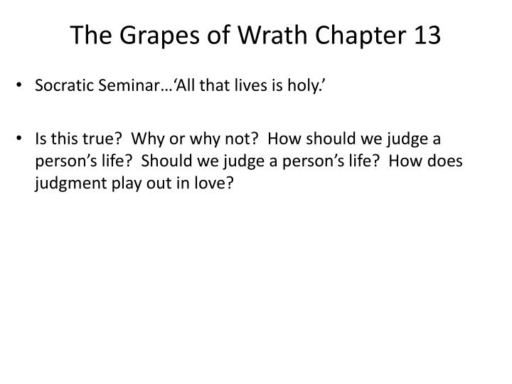 The Grapes of Wrath Chapter 13