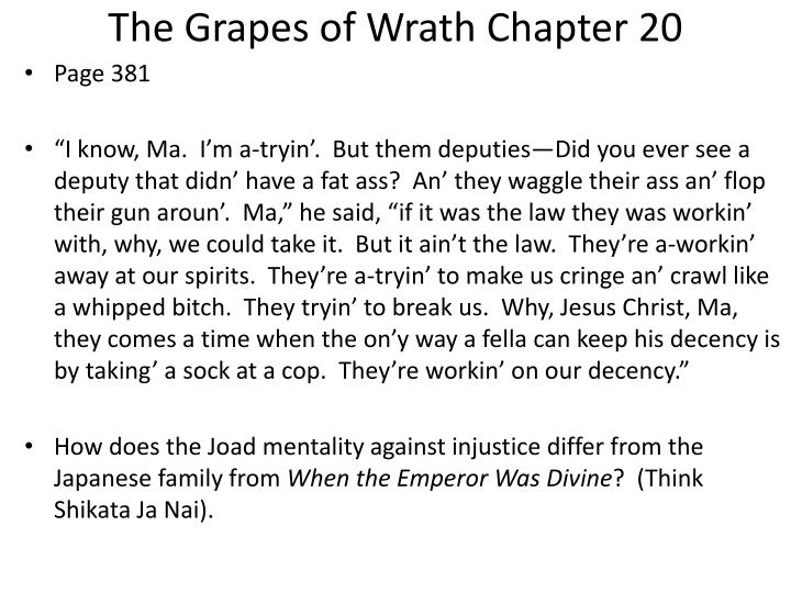 The Grapes of Wrath Chapter 20
