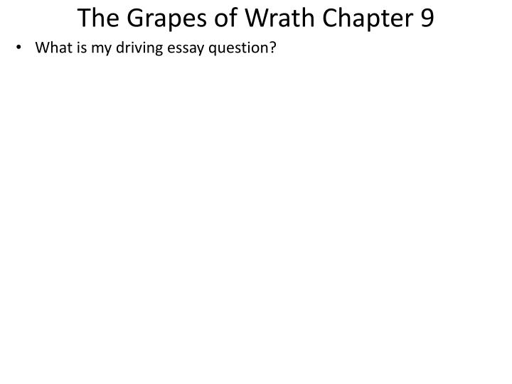 The Grapes of Wrath Chapter