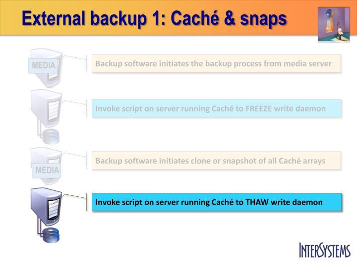 External backup 1: Caché & snaps