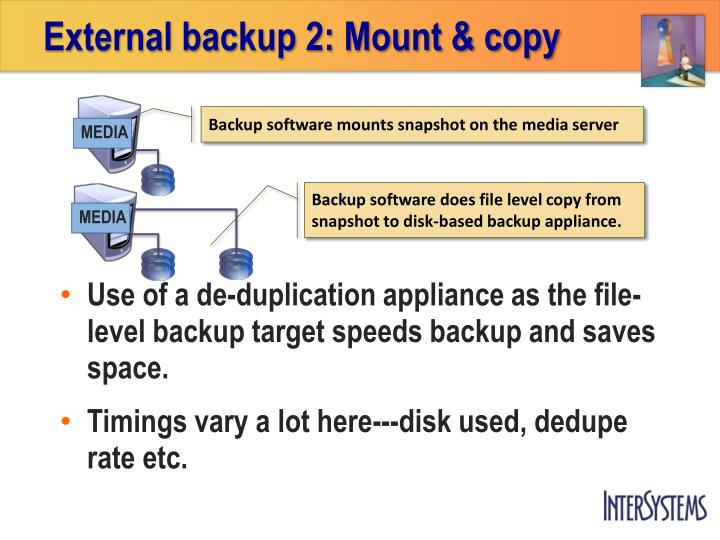 External backup 2: Mount & copy