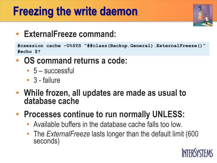 Freezing the write daemon
