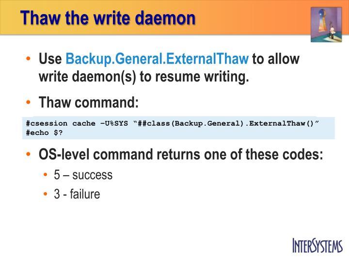 Thaw the write daemon