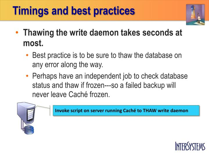 Timings and best practices