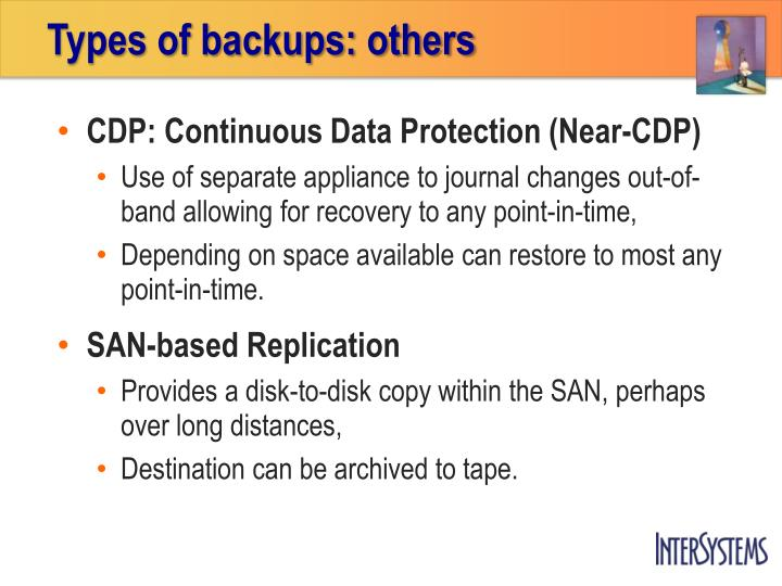 Types of backups: others