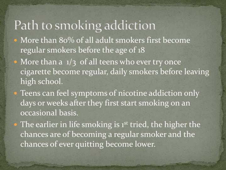 Path to smoking addiction