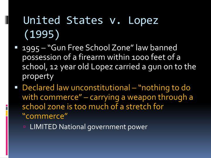 United States v. Lopez (1995)