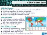 cern s user base