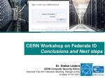 cern workshop on federate id conclusions and next steps