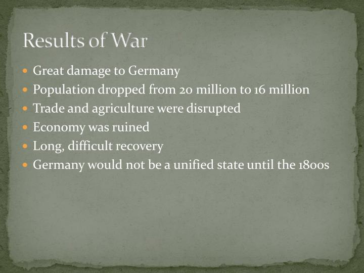 Results of War