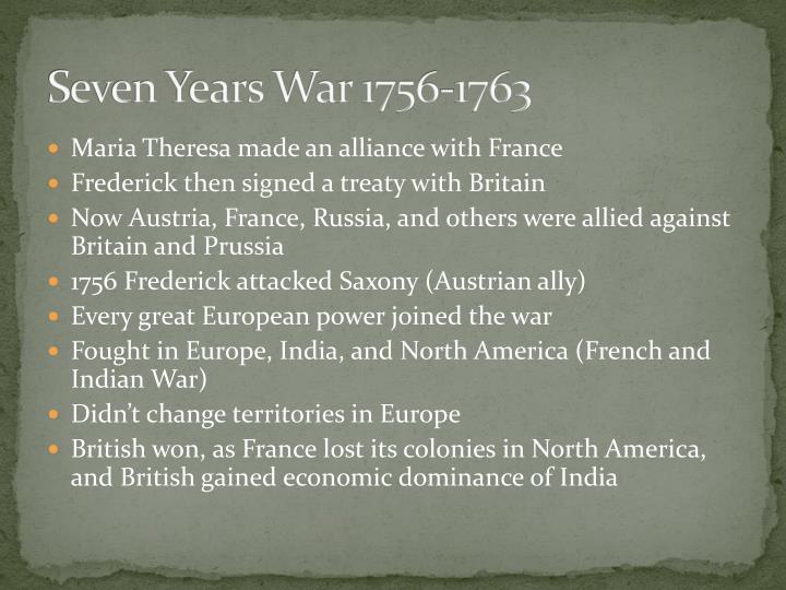 Seven Years War 1756-1763