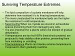 surviving temperature extremes