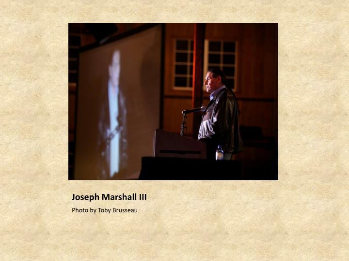 Joseph Marshall III