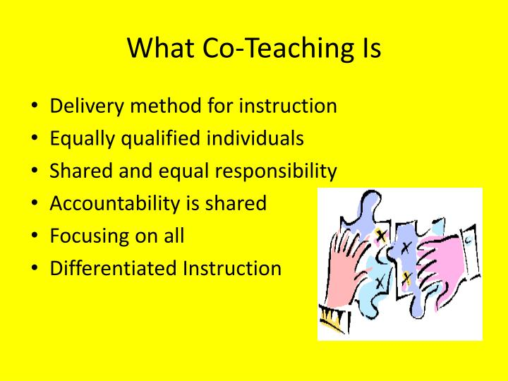 What Co-Teaching Is