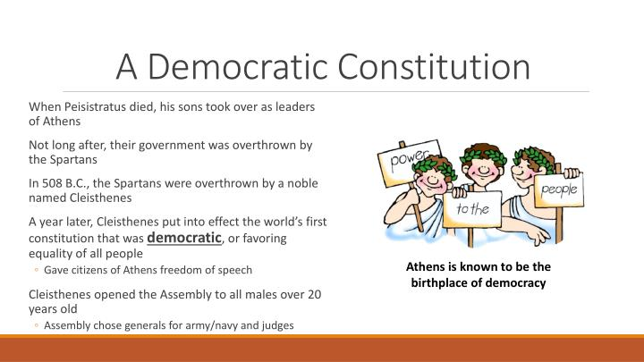 A democratic constitution