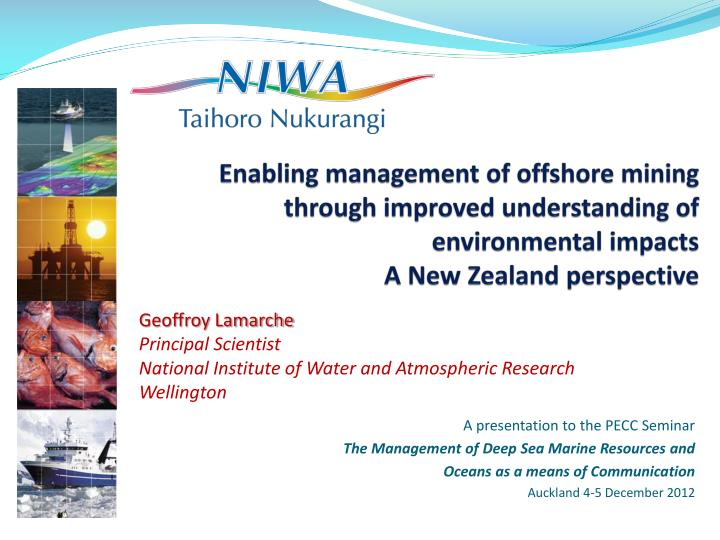 Enabling management of offshore mining through improved understanding