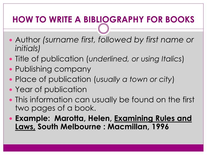how to write bibliographies Annotated bibliographies serve two primary you can write less use if you use the entire handout and attribute the university writing center.