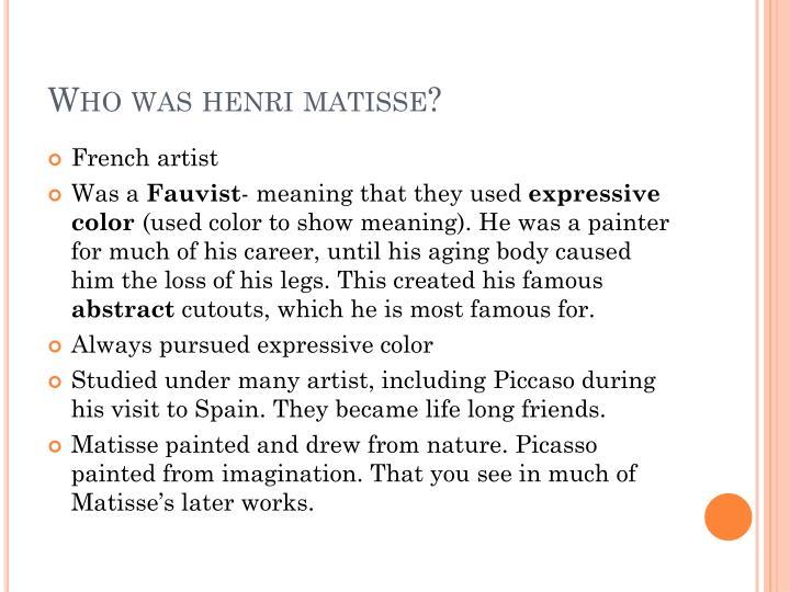 Matisse. Ppt.