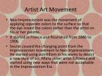 artist art movement