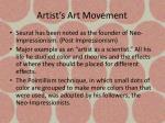 artist s art movement