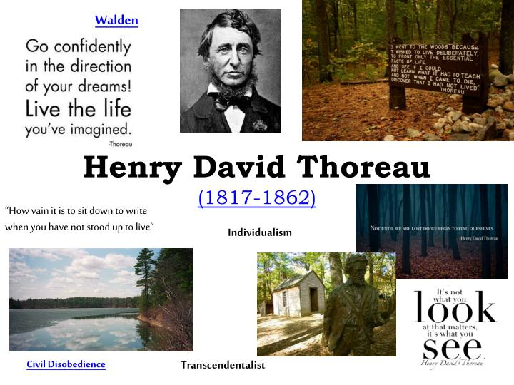 a look at henry david thoreaus transcendentalist ideologies Thoreau, henry david(1817-1862) henry david thoreau once described himself as a mystic, a transcendentalist, and a natural american philosopher henry david thoreau has for today a special appeal, noted townsend scudder in his foreword to the modern library.