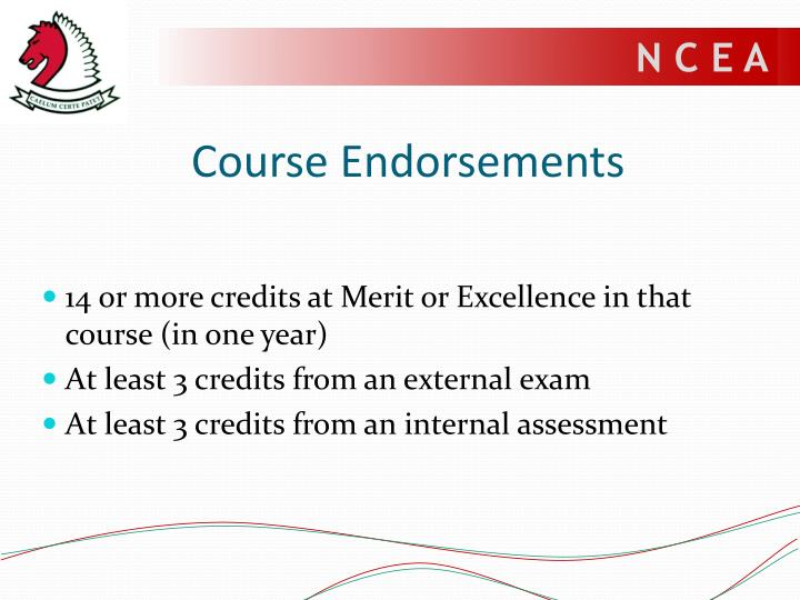 Course Endorsements