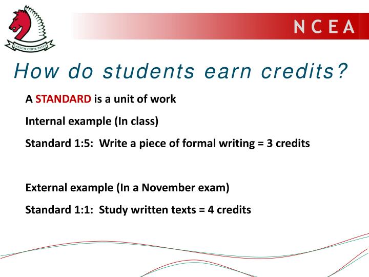 How do students earn credits?