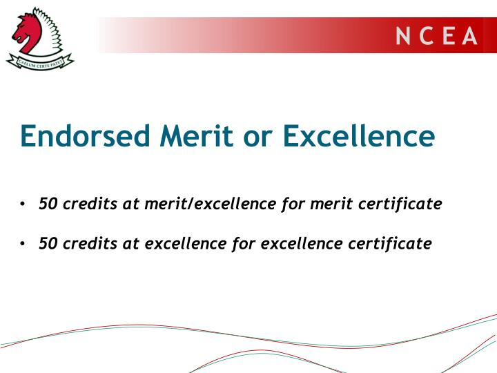 Endorsed Merit or Excellence