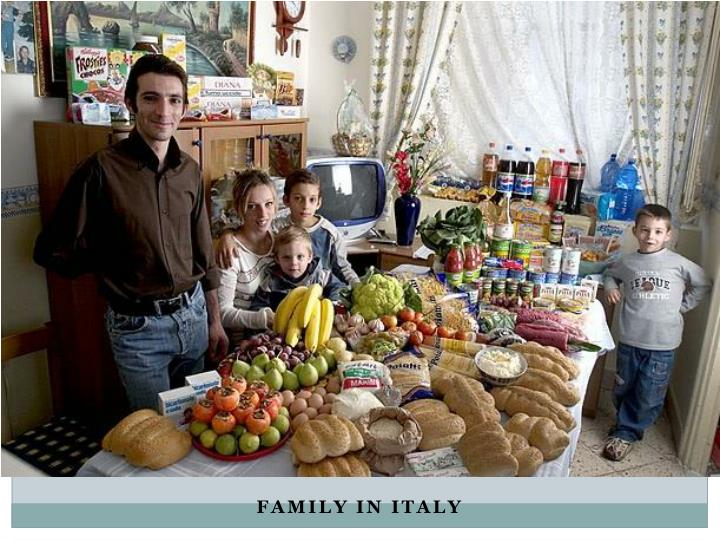 Family in italy
