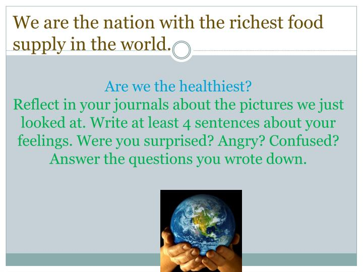 Are we the healthiest?