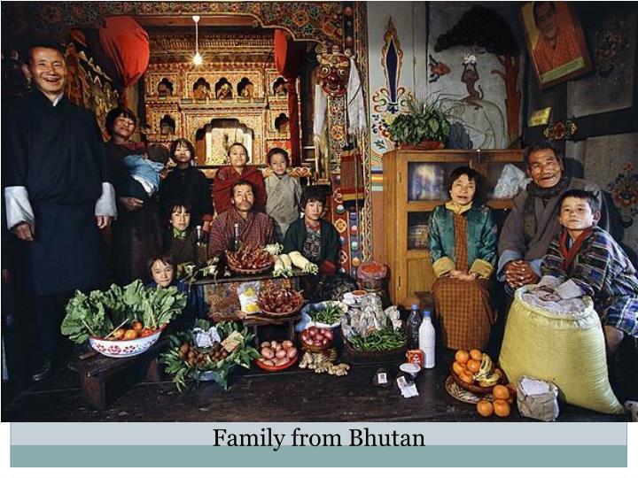 Family from Bhutan