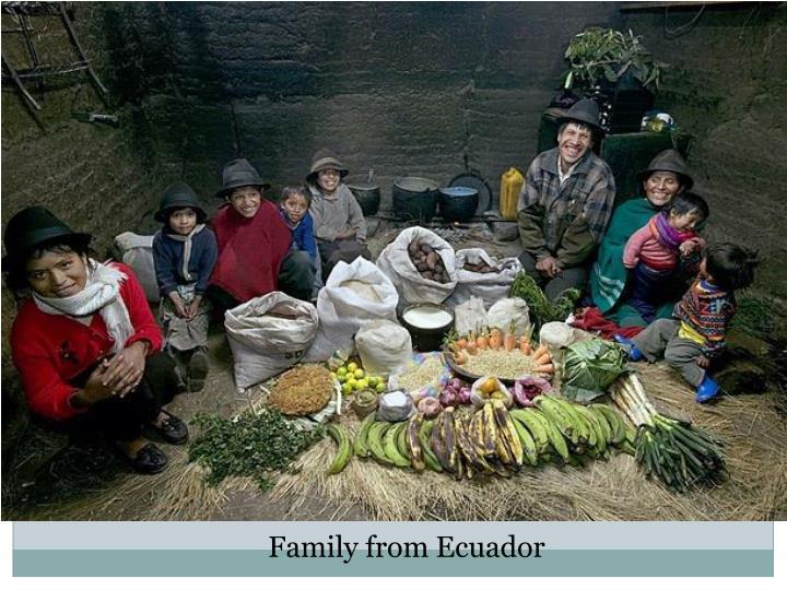 Family from Ecuador