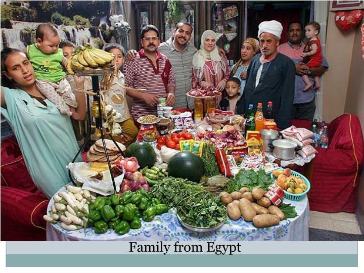 Family from Egypt