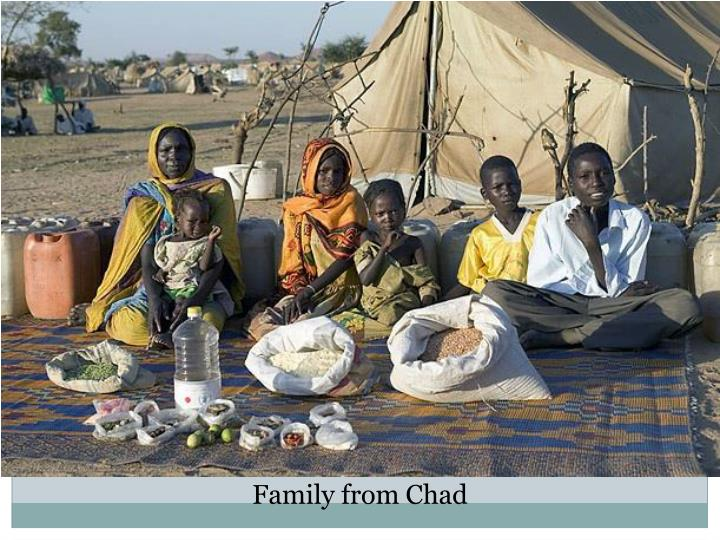 Family from Chad