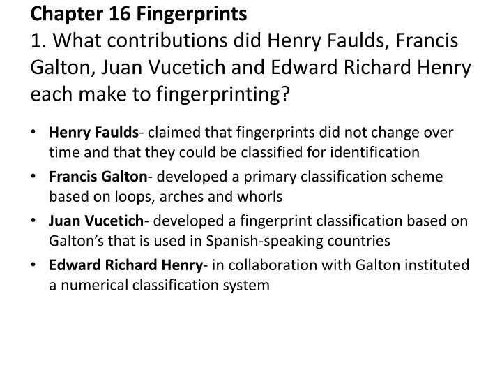 Chapter 16 Fingerprints
