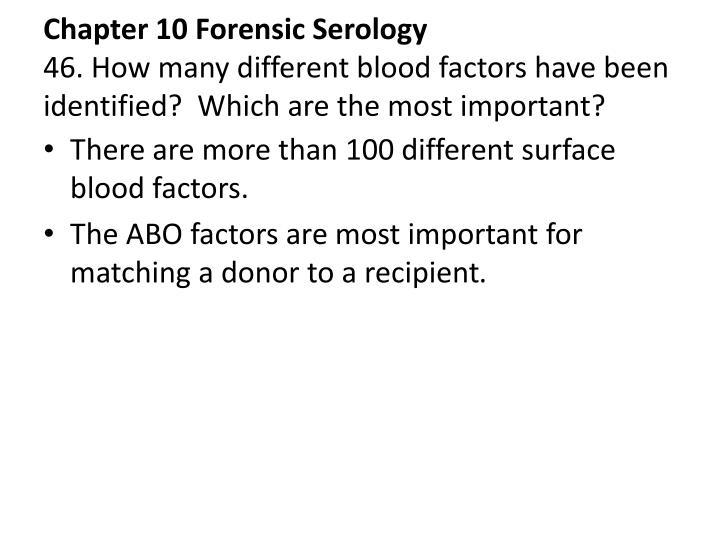 Chapter 10 Forensic Serology