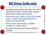 ms dress code cont