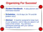 organizing for success