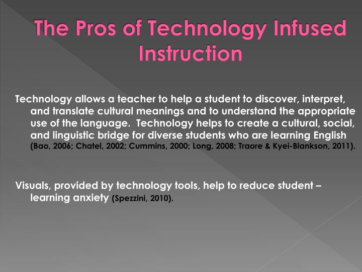 The Pros of Technology Infused Instruction