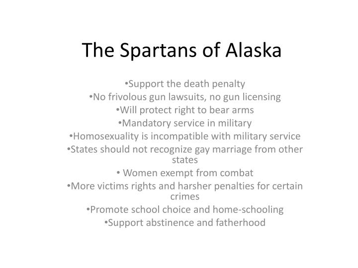 The spartans of alaska